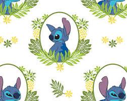 lilo stitch fabric tropical frame white lilo u0026 stitch