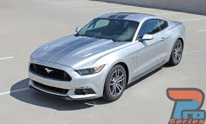 Silver Mustang With Black Stripes Ford Mustang Racing Stripes Vinyl Graphics Decals Fade Rally