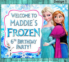 frozen sign frozen birthday sign frozen welcome sign frozen