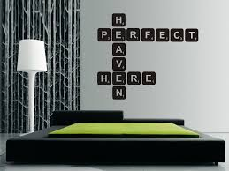 wall stickers scrabble letters color the walls of your house