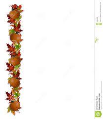 autumn fall leaves and pumpkins border stock illustration