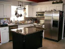 island in a kitchen kitchens with vaulted ceilings exposed white brick backsplash tile