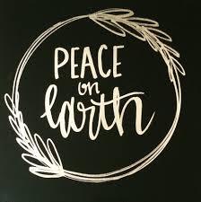 peace on earth 12x12 canvas sign holiday decor christmas decor
