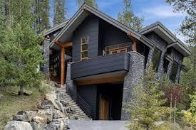 black houses home exterior paint ideas wood trim darkest