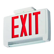 exit emergency light combo lithonia lighting concealed polycarbonate led optics exit sign