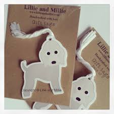 and cuddly bedlington terrier gift tags