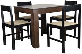 forzza peter four seater square dining table set wenge amazon