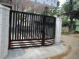 modern house gate color with iron fence trends also latest paint