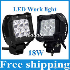 led tractor light bar 18w cree led work light bar motorcycle tractor boat offroad 4wd 4x4