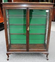 Glass Display Cabinet Perth An Oak Display Cabinet Display Cabinets Antique Furniture