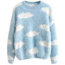 cloud sweater fluffy cloud jumper 33 liked on polyvore featuring tops