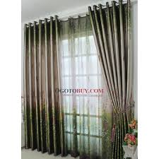summer feeling green printed eco friendly curtains buy curtains