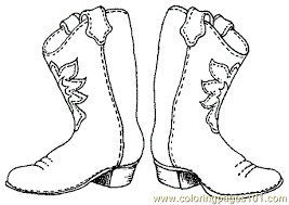 printable cowboy boots template free printable coloring