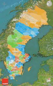 Map Sweden Political Map Of Sweden Satellite Outside