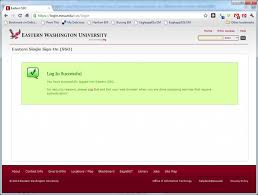 Eastern Washington University Map by Instructions For Users