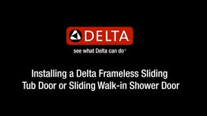 How To Install Sliding Shower Doors Delta Sliding Shower Door Installation