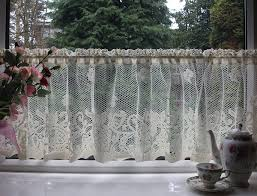 Lace Cafe Curtains Amazing Lace Cotton Cafe Curtain Cn1a Throughout Lace Cafe