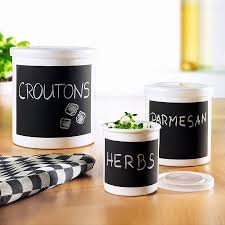 Canisters For The Kitchen by Ceramic Memo Canisters The Green Head