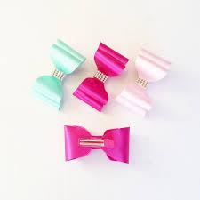 handmade hair handmade hair clip 3 5 satin bow non slip hair clip