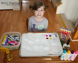 cupcake liner flower craft fine motor art for kids still