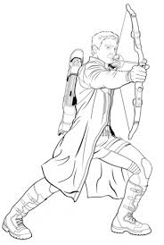 avengers hawkeye coloring free printable coloring pages