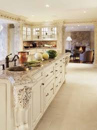 Antique Off White Kitchen Cabinets 66 Best Golden Granite With Cream Cabinets Images On Pinterest