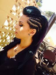nice mohawk hair styles braided mohawk hair style hair pinterest mohawk hair