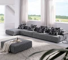 Sectional Sofas Fabric Tosh Modern Zebrano Grey Fabric Sectional Sofa Chaise Ottoman