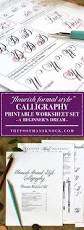 the new flourish formal calligraphy worksheet set is now available
