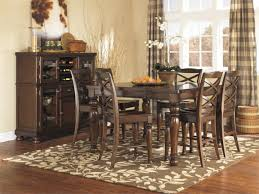 dining room ashley furniture crestaire porter lola double pedestal extendable dining porter