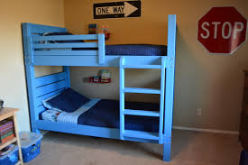 ana white side street bunk beds with modified ladder diy