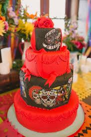 day of the dead wedding cake dia de los muertos wedding ideas ruffled