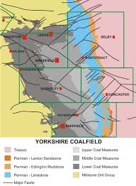 Leeds England Map by Yorkshire Coalfield Northern Mine Research Society