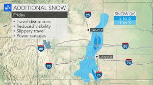 Denver International Airport Map Feet Of Snow Buries Colorado Wyoming