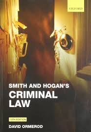 smith and hogan u0027s criminal law amazon co uk david ormerod