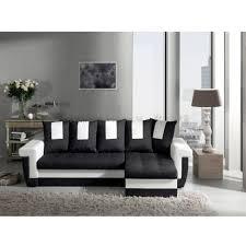 canapé convertible noir et blanc canapé d angle convertible noir blanc tulum modern sofa pas cher à
