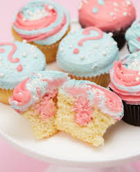 gender reveal cupcakes baby shower cakes pinterest