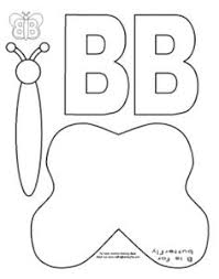 muck monsters letter b b is for butterfly cut and paste kids