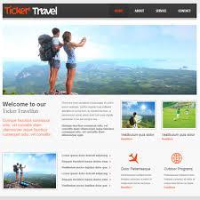 ticker travel free responsive html5 css3 mobileweb template