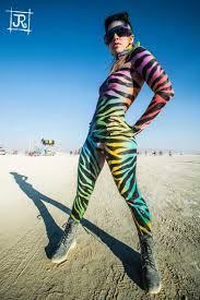 paint man fruit stripe body paint burning man 2013 body painting art