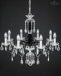 Black Chandeliers For Sale 104 8 Ch Chrome Black Crystal Chandelier With Swarovski Spectra