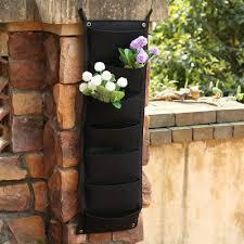 7 pockets hanging vertical garden planter indoor outdoor herb