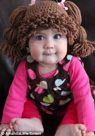 Homemade Cabbage Patch Kid Halloween Costume Child Cabbage Patch Kid Fan Creates Wigs