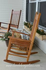 rustic winter front porch dandelion patina