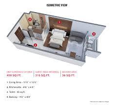 Studio Loft Apartments 450 Sq Ft Floor Plans Expat Projects And Development Pvt Ltd Vida Uptown Studio