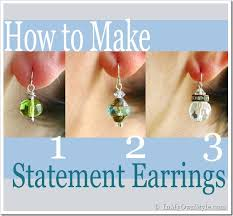 easy earrings how to make elegantly simple drop earrings in my own style