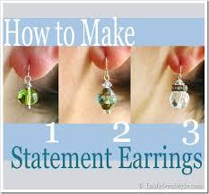 make dangle earrings how to make elegantly simple drop earrings in my own style