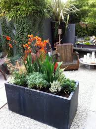 rectangular planters concrete planter box