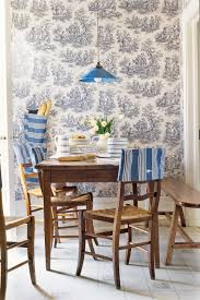 Wallpaper Designs For Dining Room Blue And White Rooms Decorating With Blue And White