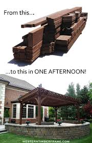 Pergola Kits Cedar by Best 20 Wood Pergola Kits Ideas On Pinterest Deck Decking